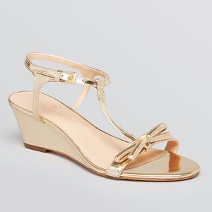 Kate Spade Metallic Donna T Strap / Bow and Spike
